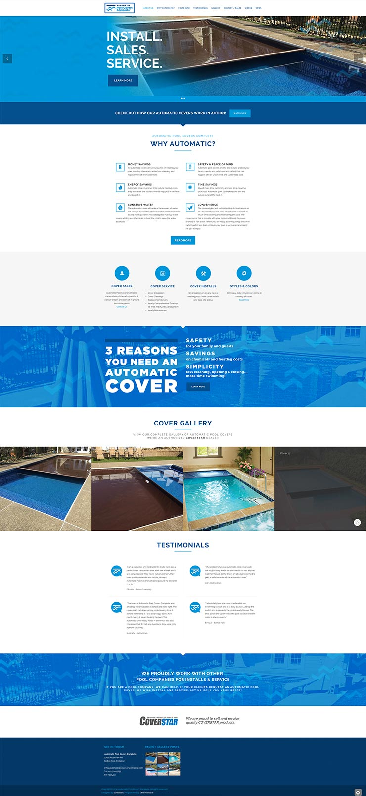 Automatic pool covers complete gallery website design for Pool design website