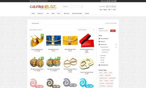 Culture Cloz Shop Website Design