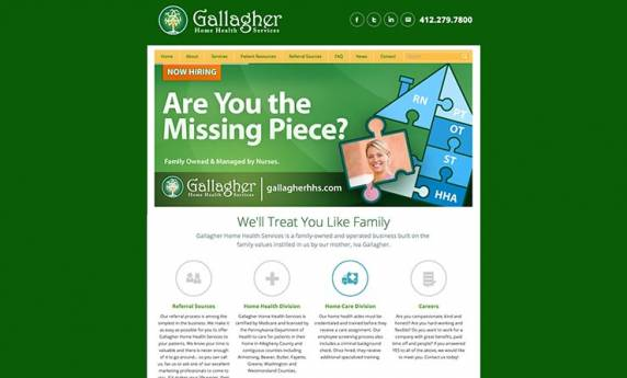 Gallagher Home Health Services Website Design
