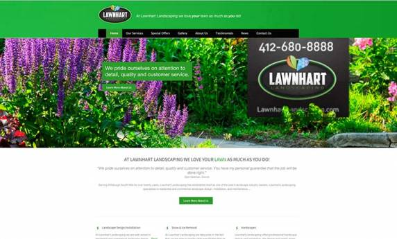 Lawnhart Lawncare Website Design