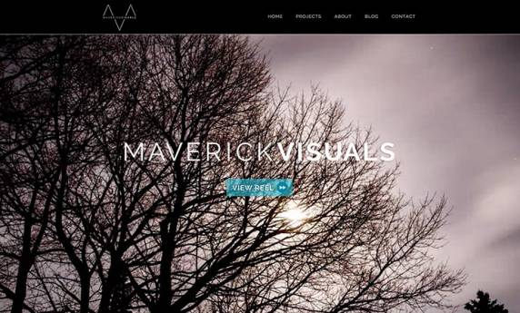 Marverick Visuals Projects Website Design