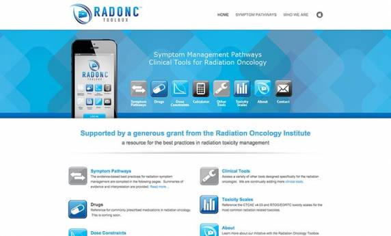 Radonc Toolbox Oncology Website Design