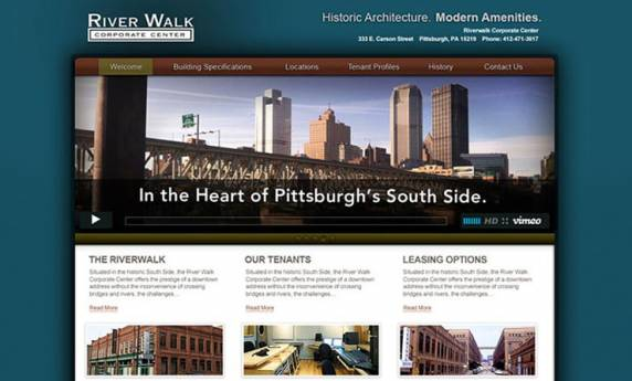 River Walk Corporate Center Website Design