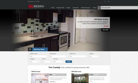 Rockwel Website Design