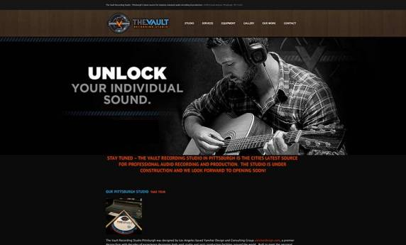 The Vault Recording Work Website Design