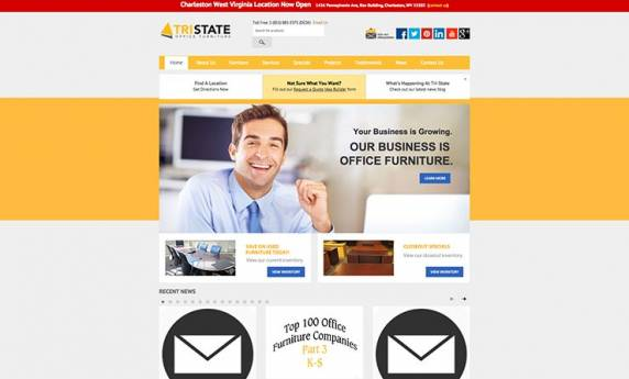 Tristate Office Furniture Website Design