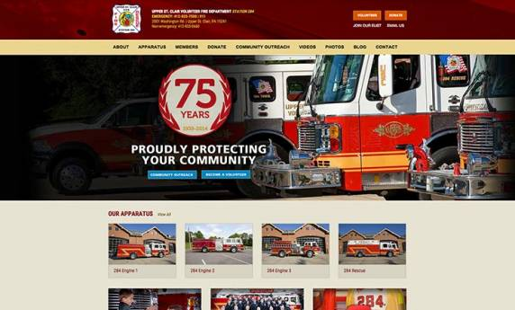 Upper St. Clair Fire Department Website Design