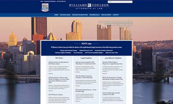 Williams Coulson Website Design