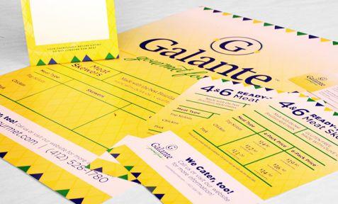 Galante Gourmet Foods Package Design