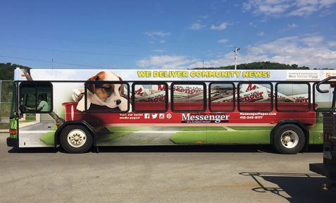South Hills-Mon Valley Messenger Bus Wrap