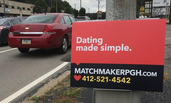 Modern Matchmaker Road-Side Signs