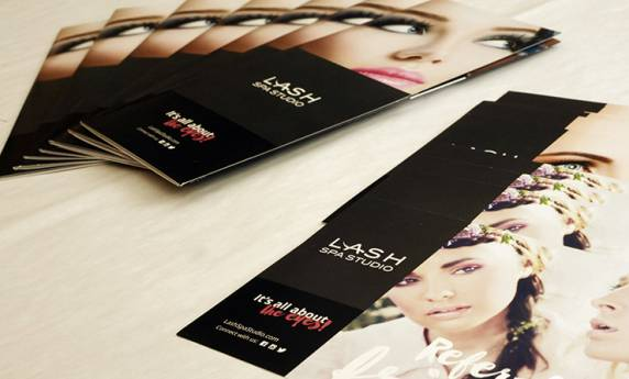 LASH Spa Studio Print Materials