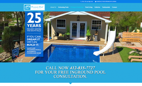 Pleasure Pool and Deck Website