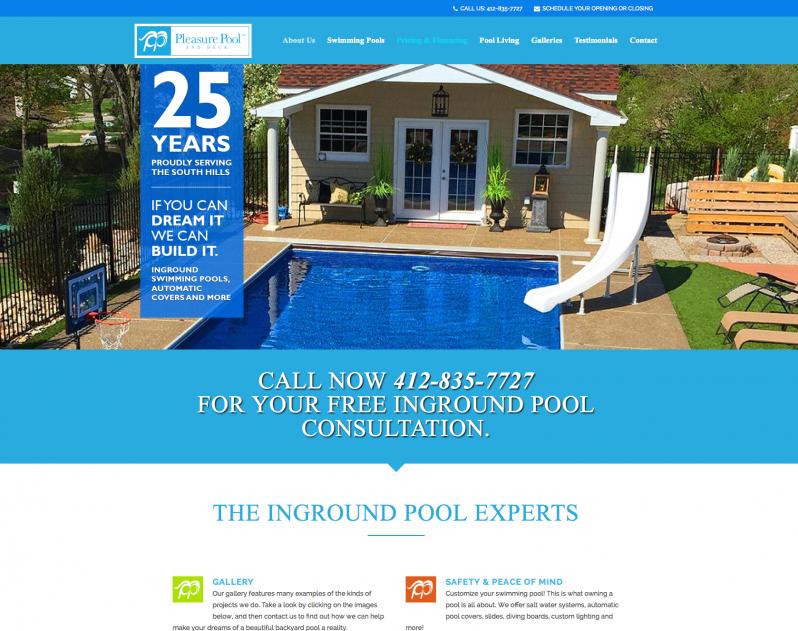 Pleasure Pool and Deck Website