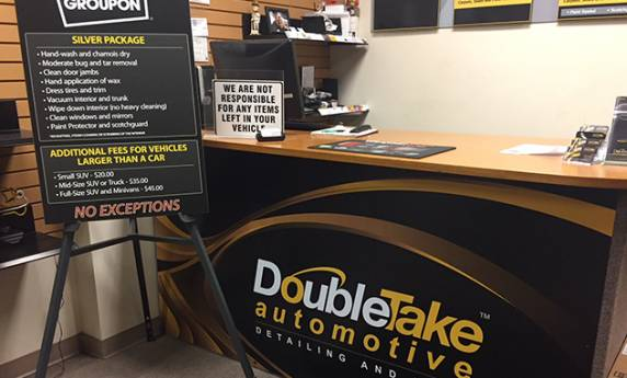 DoubleTake Automotive Lobby Desk Sign
