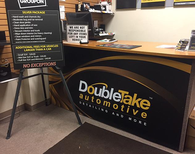 DoubleTake Automotive Lobby Desk Sign