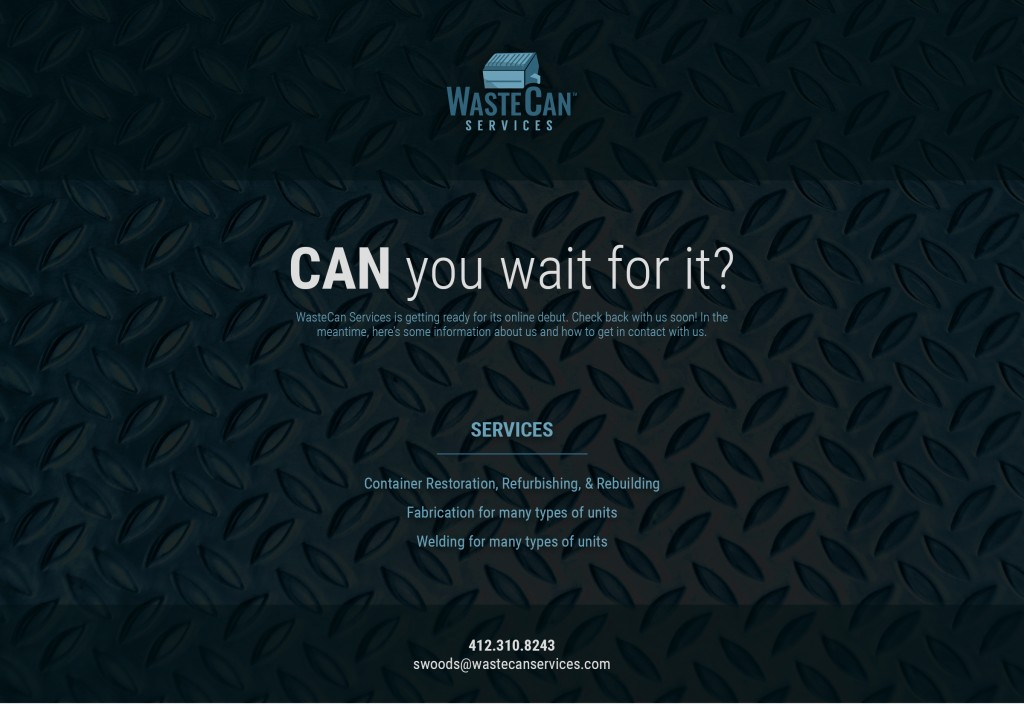 WasteCan Services Landing Page