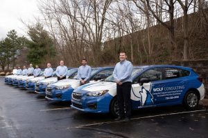 Wolf Consulting vehicle wraps